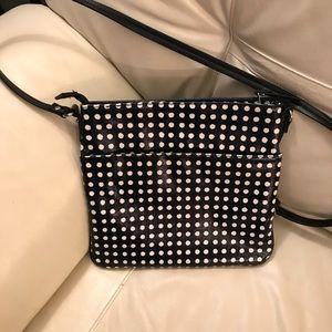 Small polka dot crossbody bag